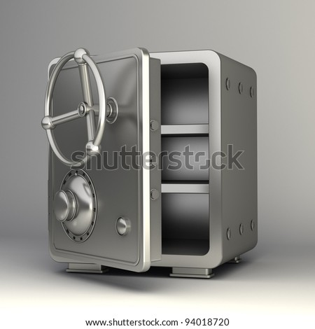 steel bank safe isolated  High resolution 3D
