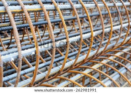 Steel bar is for the construction. - stock photo