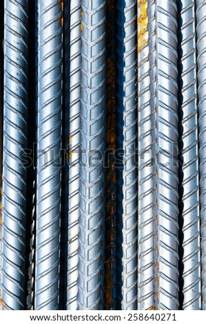Steel bars for background. - stock photo