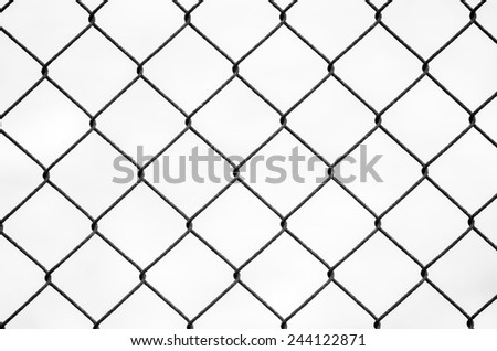 steel bars on white background