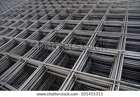Steel Bars Stacked For Construction - stock photo