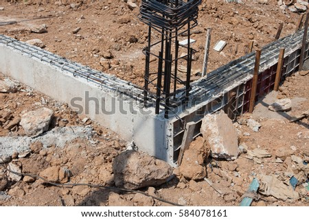 Steel beams to build houses