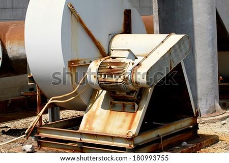 Steel Blower in warehouse  - stock photo