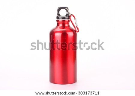 steel bottle isolated on white background - stock photo