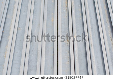 Steel C Channel construction - stock photo