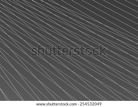 Steel cables over sky background. Abstract black and white pattern. - stock photo
