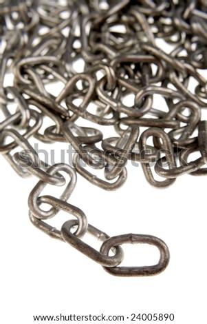 Steel chain - stock photo