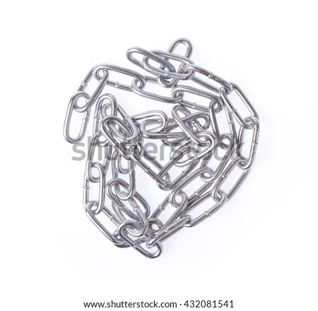 Steel chain isolated on white background