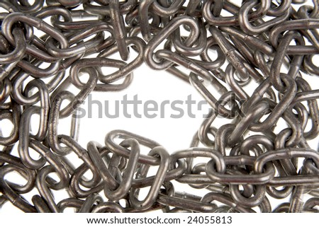 Steel chain links - stock photo