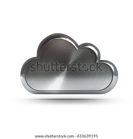 steel cloud Isolated  isolated on white background. High resolution 3d