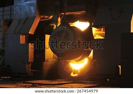 Steel converter filler material - stock photo