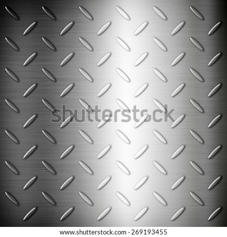 Steel diamond brushed plate background texture wallpaper - stock photo