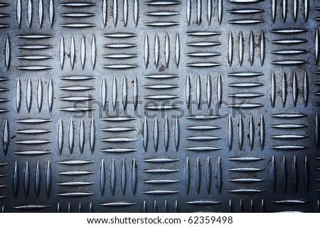 Steel diamond pattern plate texture - stock photo
