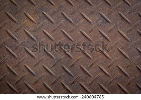 Steel diamond plate texture - stock photo
