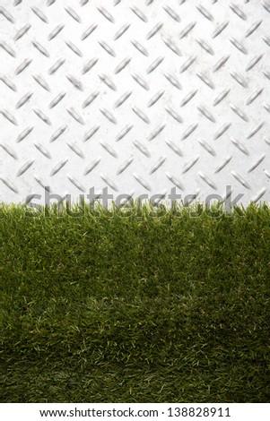 steel diamond plate texture/steel diamond plate - stock photo