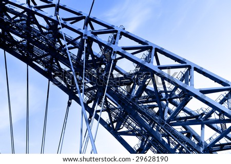 Steel element of construction modern suspension bridge