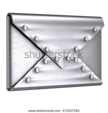 Steel envelope - stock photo