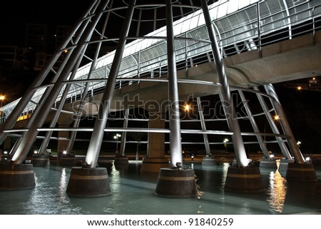 steel estructure in Chorrillos, Lima - Peru - stock photo