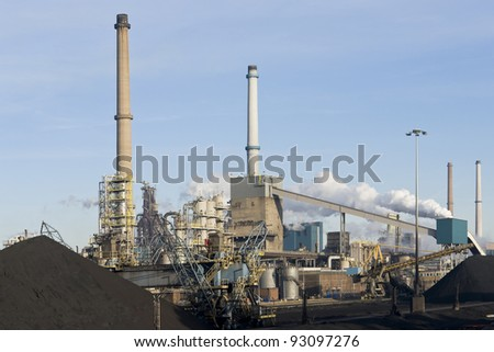 Steel factory industry - stock photo