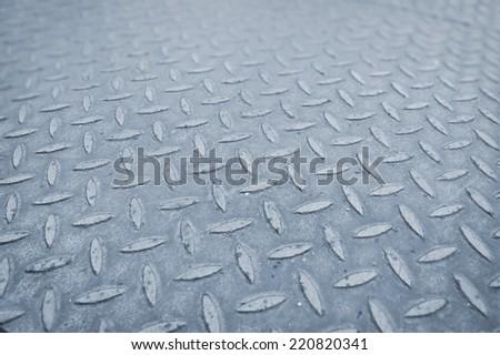 steel floor background - stock photo
