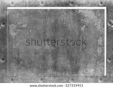 steel frame - stock photo