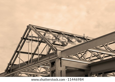 Steel Framing of a Commercial Building