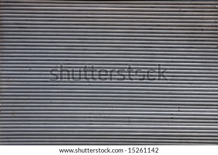 Steel Garage Door - stock photo