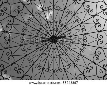 Steel Gazebo in B/W