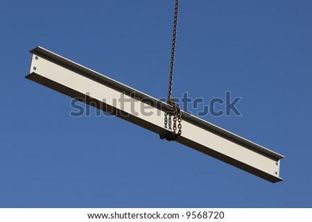 Steel Girder on a construction site - stock photo