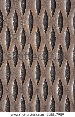 Steel grate background pattern in vertical orientation - stock photo