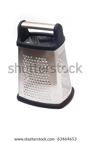 Steel grater isolated on white background