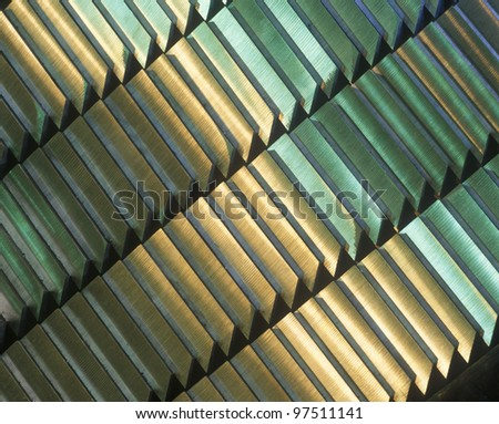 Steel ingots in a row. - stock photo