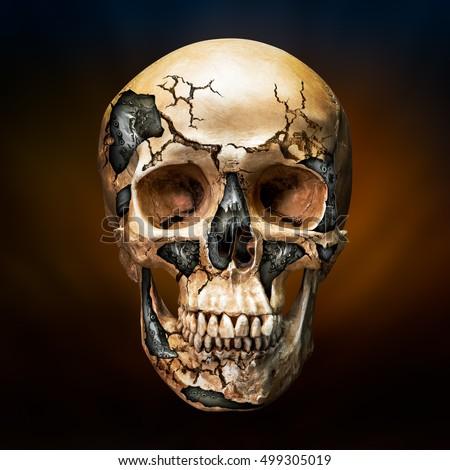 Robot skull and crossbones