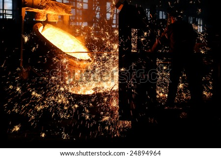 Steel making - stock photo