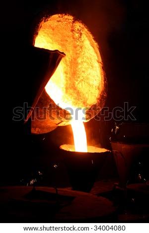 Steel making - stock photo