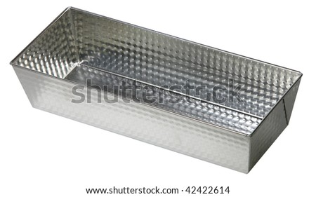 steel mold cake isolated on white background