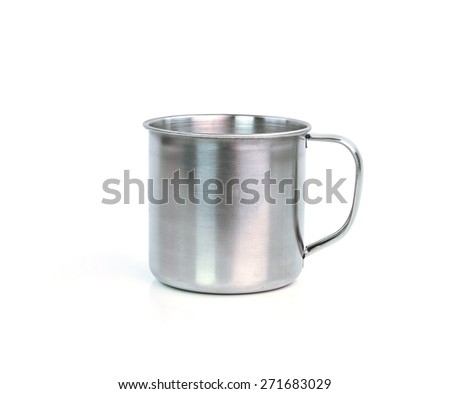 Steel Mug on white background
