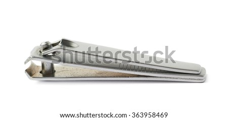 Steel nail clipper isolated - stock photo