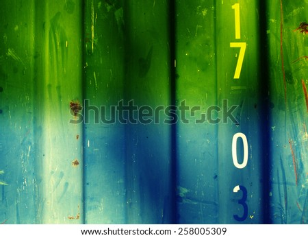 Steel panels wall texture background in dual color - stock photo