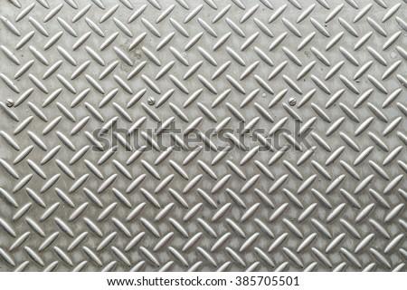 Steel pavement, Metal plate - stock photo