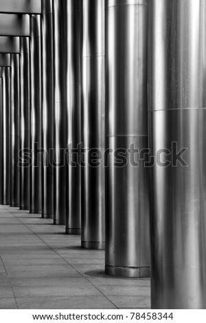 Steel Pillars - stock photo