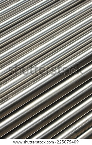 Steel pipe  - stock photo