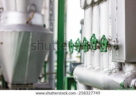 steel pipelines - stock photo