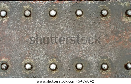 Steel plate with brilliant rivets