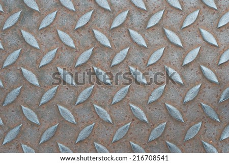 Steel plate with rust and dust - stock photo