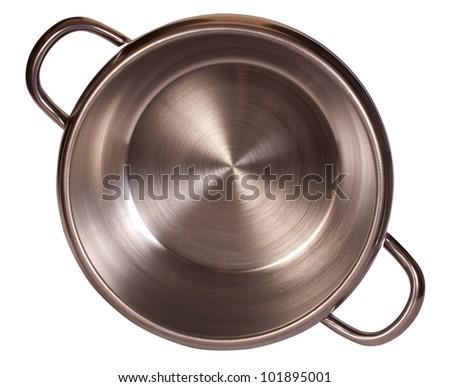 steel pressure cooker - stock photo
