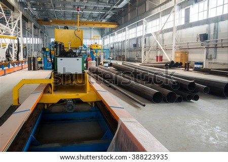 Steel production factory - stock photo