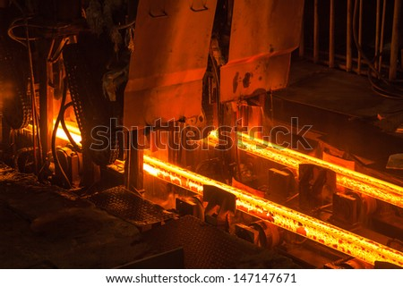 steel rolling - stock photo