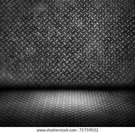 steel room - stock photo