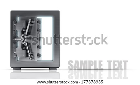steel safe isolated on white background High resolution 3d